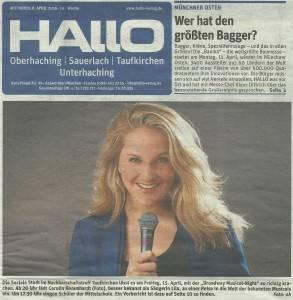 Hallo-Titelseite: Musical Konzert mit Sängerin Lila