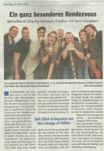 Samstagsblatt Rendezvous Konzert Samstagsblatt Rendezvous Konzert 24.04.16