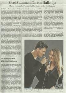 Bericht über Sängerin Lila und den singenden Pfarrer Joachim Rohrbach im Rahmen des Rendezvous-Charity-Konzertes