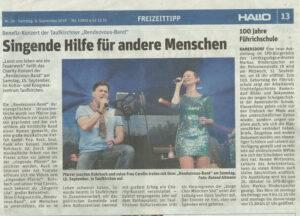 Hallo-Artikel: Benefiz-Konzert der Taufkirchner